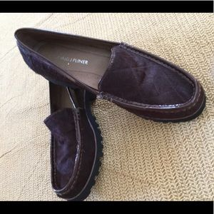 David Pliner Pony Hair Loafers